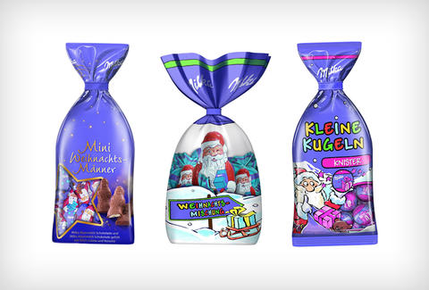 Milka Christmas chocolates