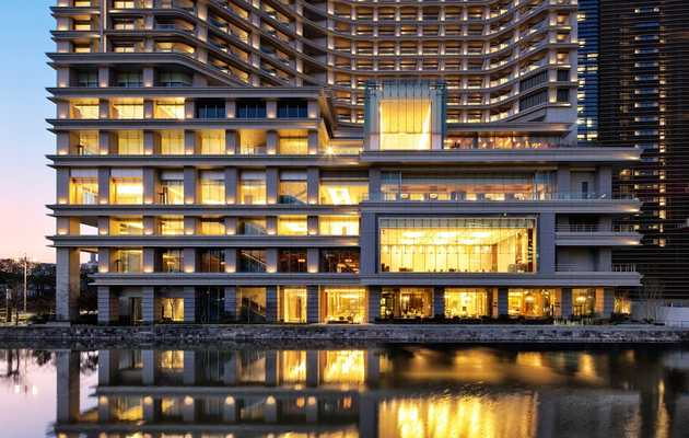 Roll like an emperor in Tokyo's top hotel, moat included
