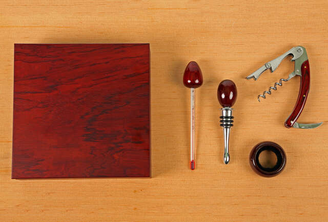 The sexiest cherry wood wine kit you\'ll see all year
