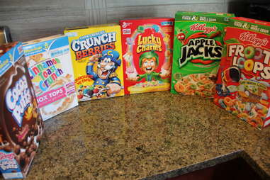 boxes of cereal