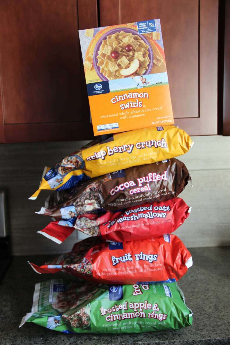 bags of generic cereal