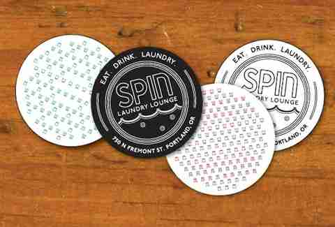 spin lounge coasters