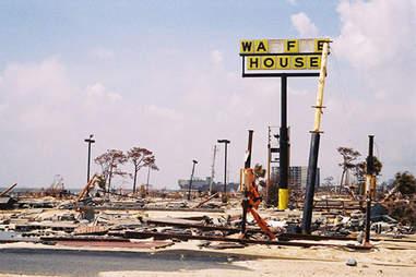 Damaged Waffle House