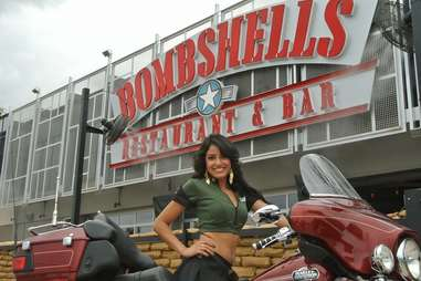 Bombshells restaurant waitress