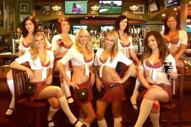 Tilted Kilt waitresses