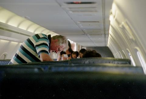 Man standing on a plane