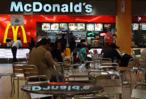 McDonald's at Lima Airport
