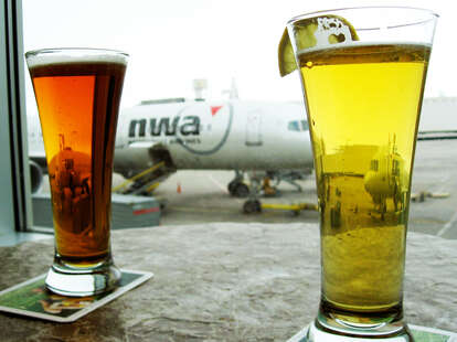 Two beers and an airplane