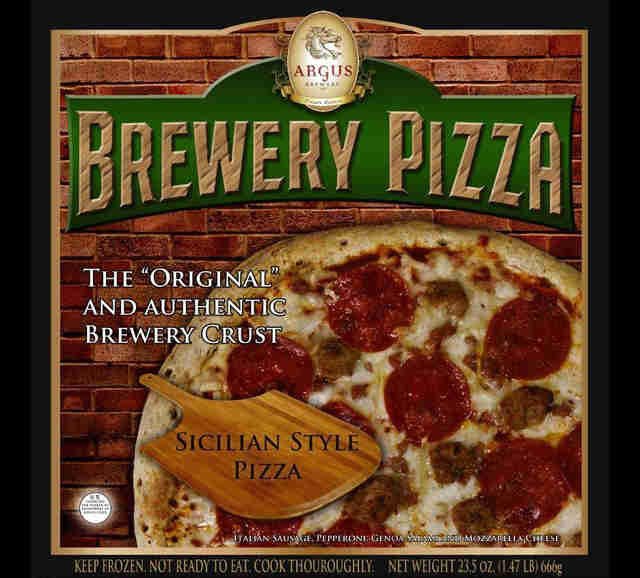Argus Brewery pizza