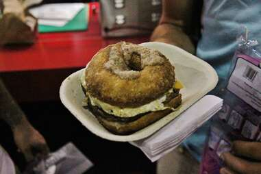 epic burgers & waffles cronut burger