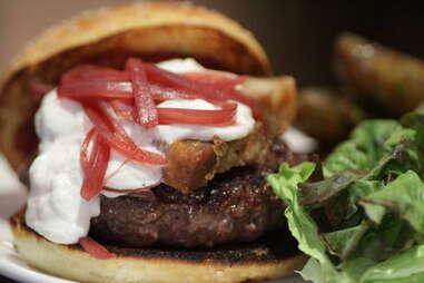 louro belly goat burger