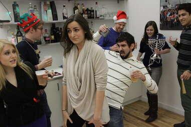 coworkers dancing