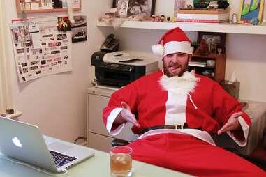 guy in santa suit