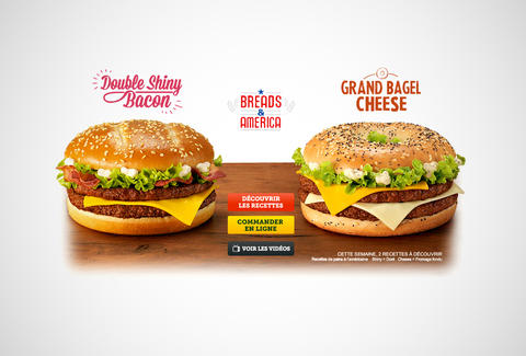 McDonald's France Breads & America burgers