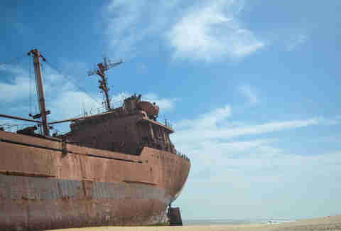 beached ship