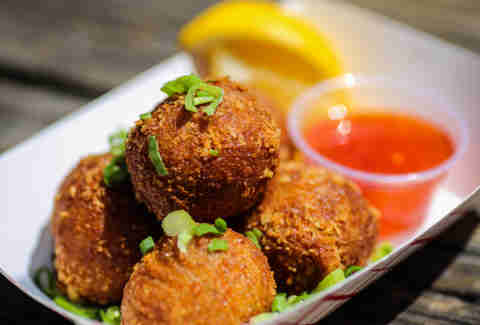 Deep-Fried Bacon Balls Fat Kid Roundup ATX