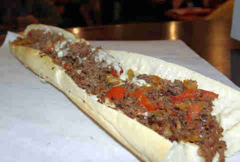 16in Sicilian Steak Sub Fat Kid Roundup BOS