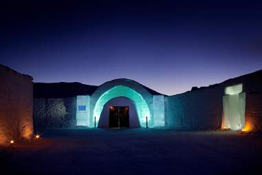ICEHOTEL 24 at night