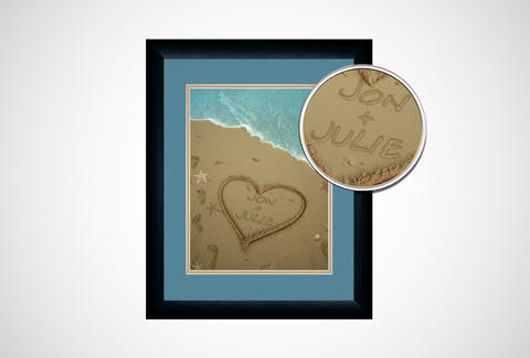 Personalized Sand Names Print
