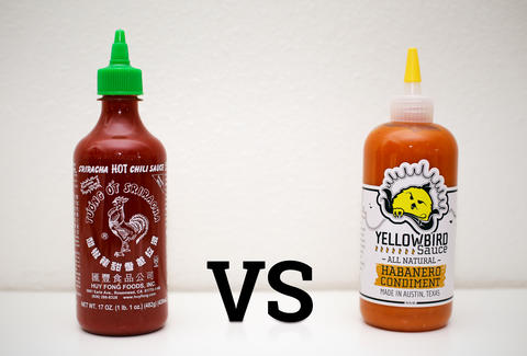 sriracha vs yellowbird
