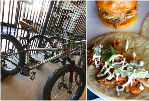 bikes and tacos at Cyclhops