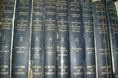 English law books