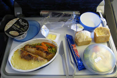 airplane food tray