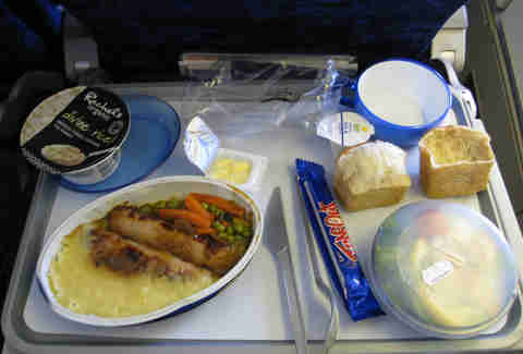 airplane food tray