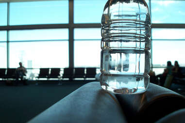 water bottle airport