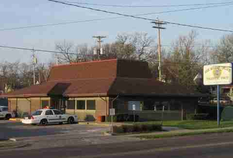 Des Moines police station Pizza Hut