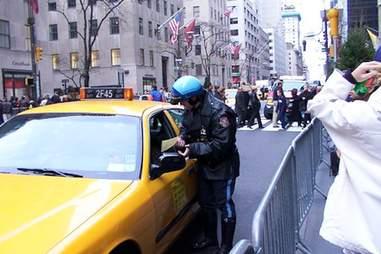 cop and cab