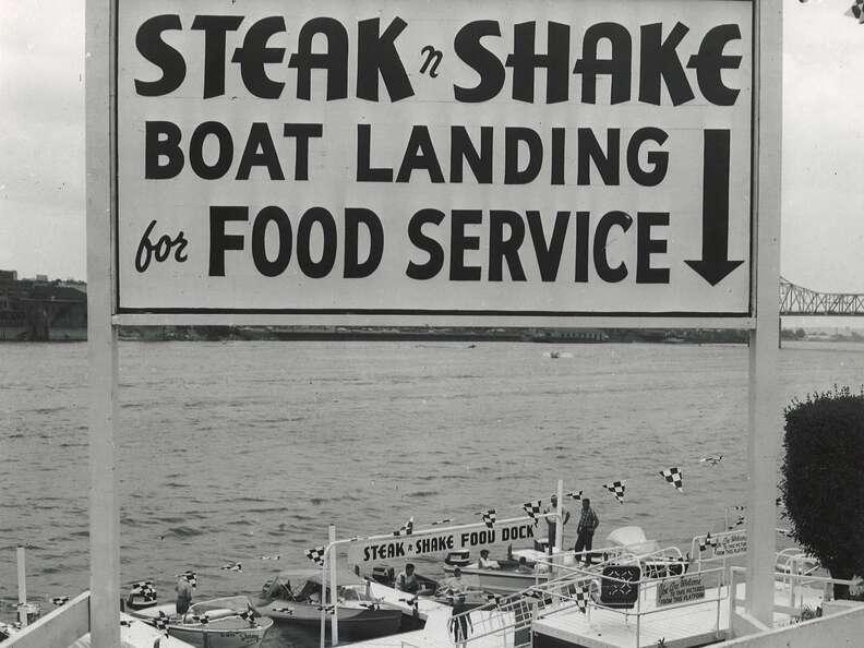 Steak 'n Shake boat landing