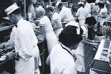 Vintage Steak 'n Shake kitchen