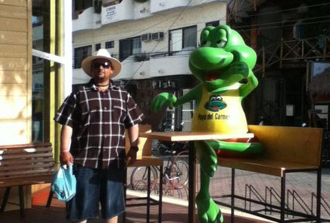 Man with Senor Frog