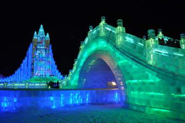 harbin ice festival bridge