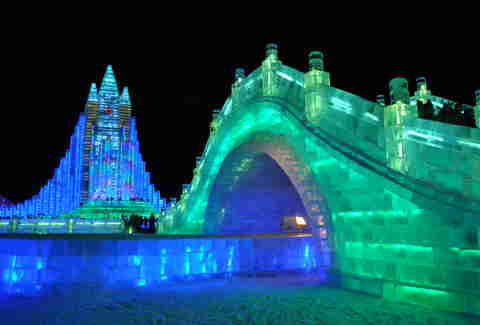 harbin ice festival bridge