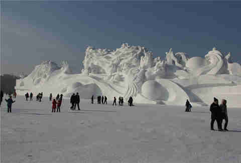 snow sculpture harbin ice festival