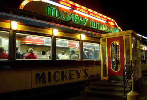mickey's diner exterior