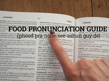 Food pronunciation guide