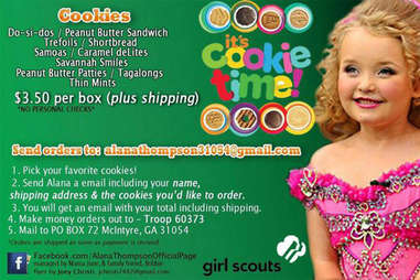 Honey Boo Boo girl scout cookie ad