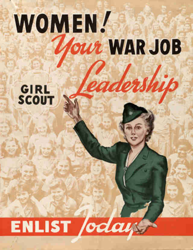 girl scout war poster