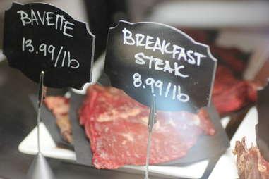 breakfast steak sign
