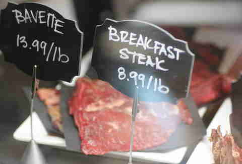 breakfast steak sign