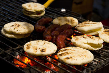 arepas and chorizo venezuela
