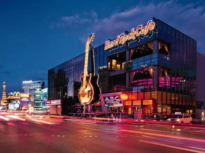 Rock music and great burgers at Hard Rock Cafe in Las Vegas