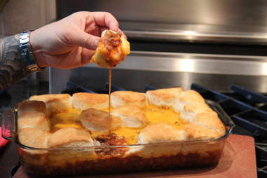 Cheddar Cheese, Sausage, And Biscuit Dip