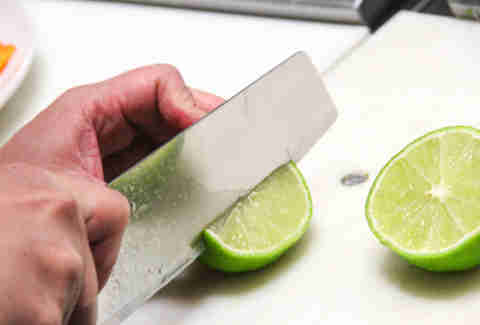 cut up lime