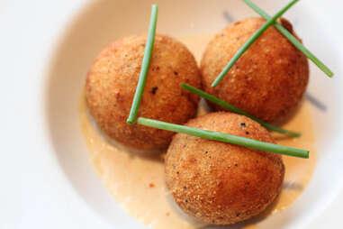 mashed potato and bacon balls