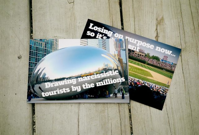 What Chicago postcards should really say
