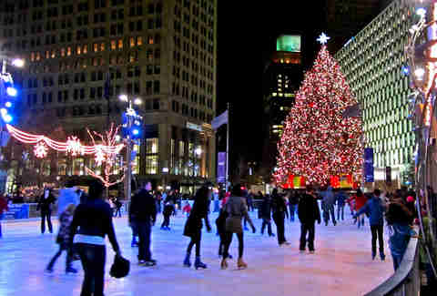 Campus Martius Park Ice Rink 10 Reasons to visit Detroit
